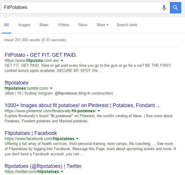 FitPotatoes Search